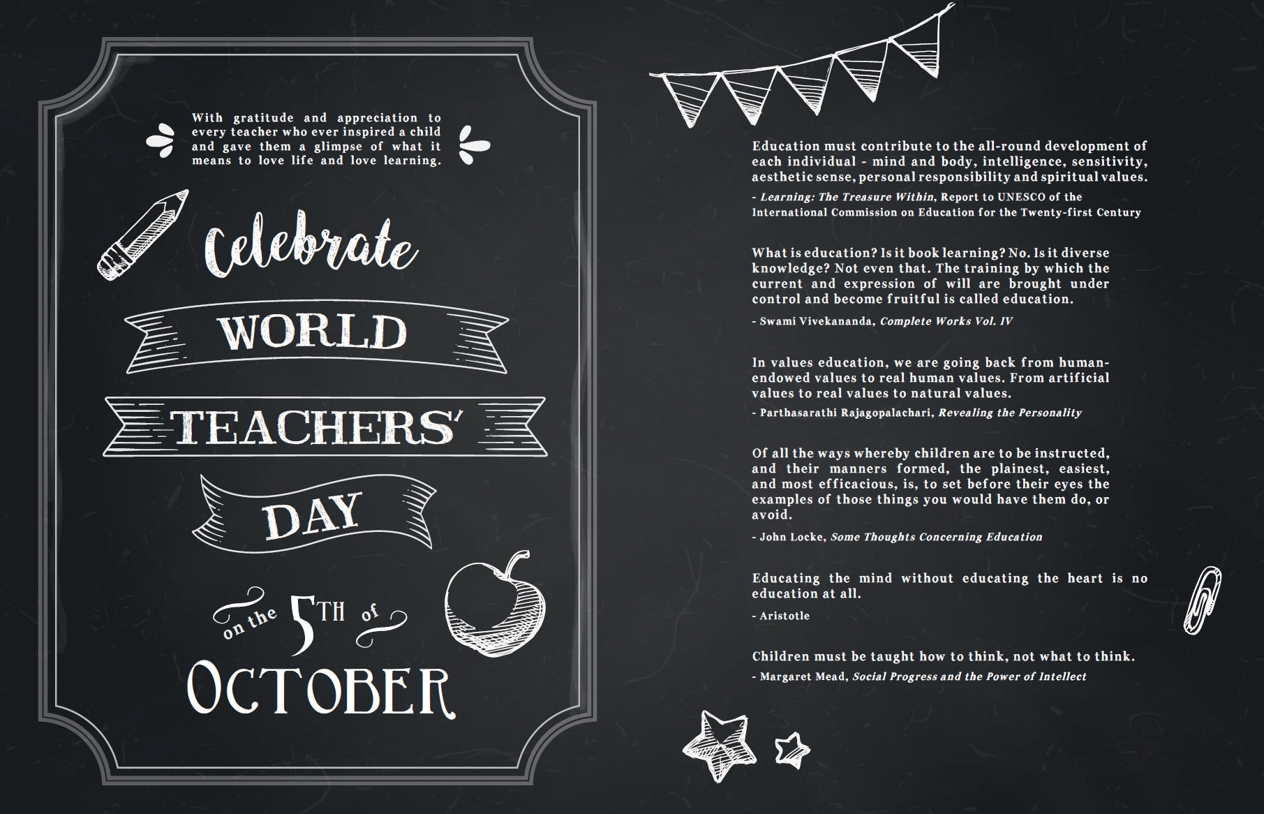 World Teachers' Day - 5th October