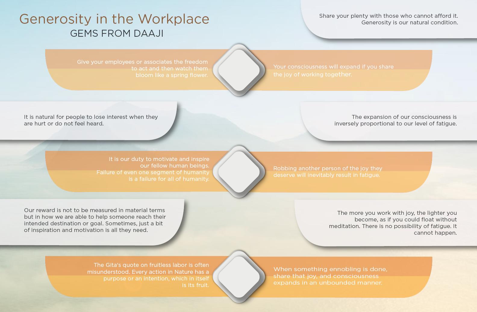 Generosity in the workplace